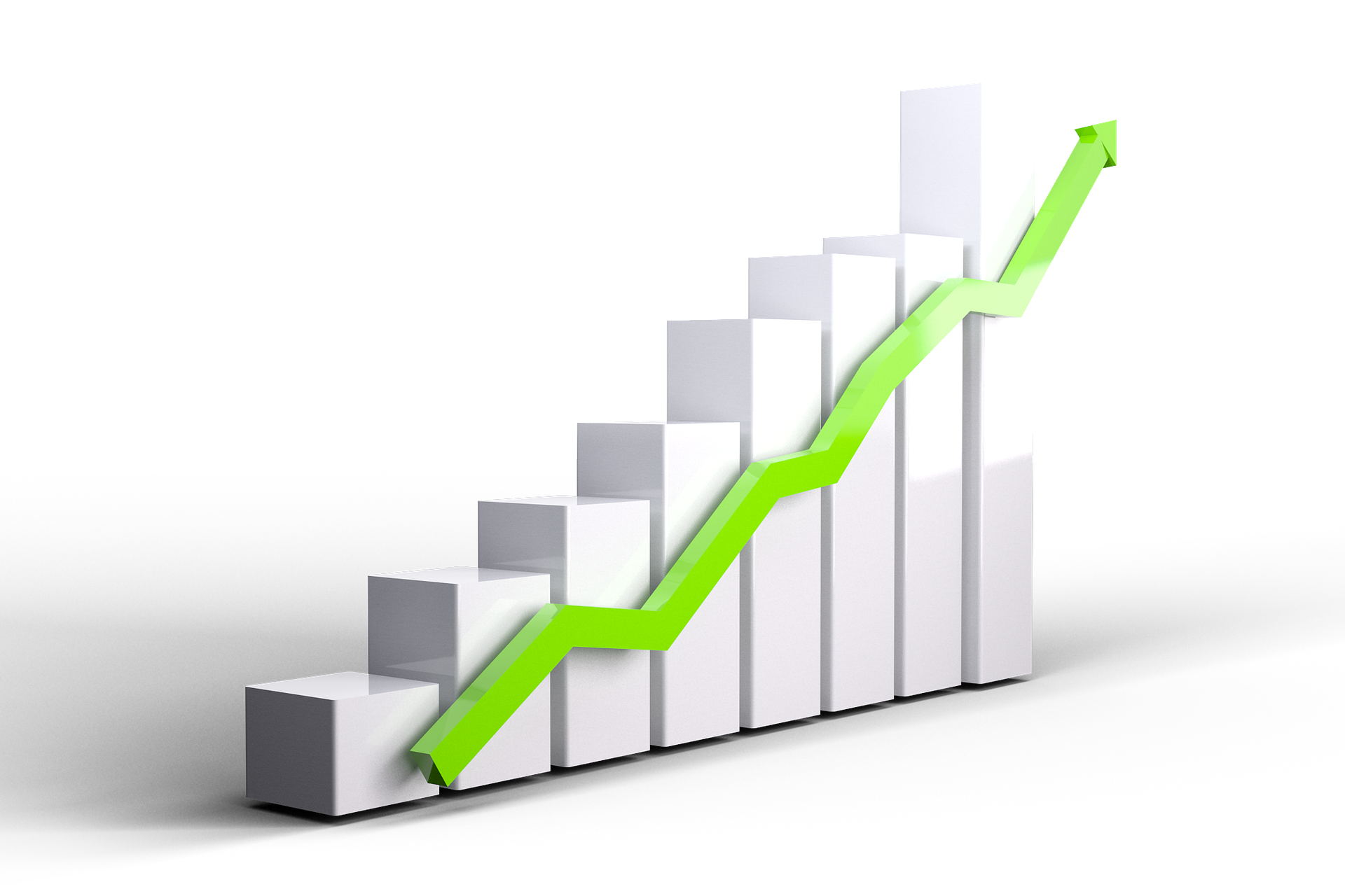 stock chart showing steep increase